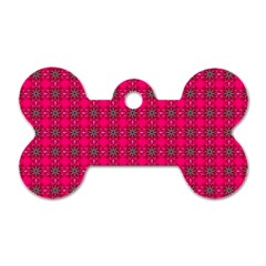 Cute Pattern Gifts Dog Tag Bone (one Side)