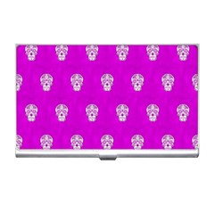 Skull Pattern Hot Pink Business Card Holders