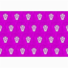 Skull Pattern Hot Pink Collage 12  x 18