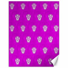 Skull Pattern Hot Pink Canvas 12  X 16
