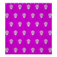 Skull Pattern Hot Pink Shower Curtain 66  X 72  (large)
