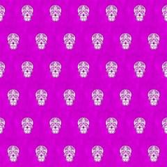 Skull Pattern Hot Pink Magic Photo Cubes
