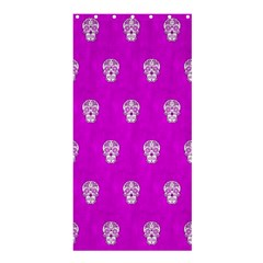 Skull Pattern Hot Pink Shower Curtain 36  x 72  (Stall)