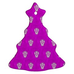 Skull Pattern Hot Pink Ornament (christmas Tree)