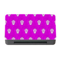 Skull Pattern Hot Pink Memory Card Reader with CF