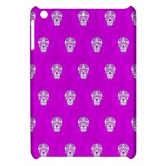 Skull Pattern Hot Pink Apple iPad Mini Hardshell Case