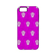 Skull Pattern Hot Pink Apple iPhone 5 Classic Hardshell Case (PC+Silicone)