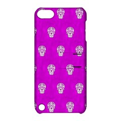 Skull Pattern Hot Pink Apple Ipod Touch 5 Hardshell Case With Stand