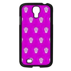 Skull Pattern Hot Pink Samsung Galaxy S4 I9500/ I9505 Case (black)