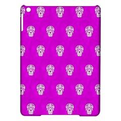 Skull Pattern Hot Pink iPad Air Hardshell Cases