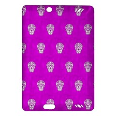 Skull Pattern Hot Pink Kindle Fire HD (2013) Hardshell Case