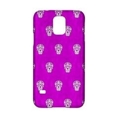Skull Pattern Hot Pink Samsung Galaxy S5 Hardshell Case