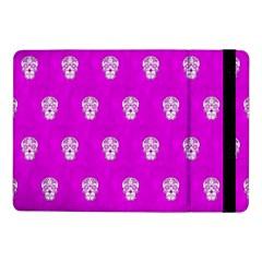 Skull Pattern Hot Pink Samsung Galaxy Tab Pro 10.1  Flip Case