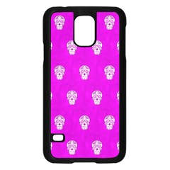 Skull Pattern Hot Pink Samsung Galaxy S5 Case (Black)
