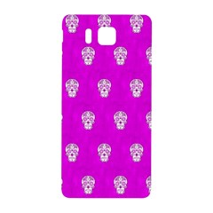 Skull Pattern Hot Pink Samsung Galaxy Alpha Hardshell Back Case