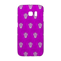 Skull Pattern Hot Pink Galaxy S6 Edge