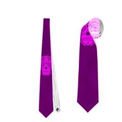 Skull Pattern Purple Neckties (Two Side)