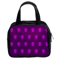 Skull Pattern Purple Classic Handbags (2 Sides)