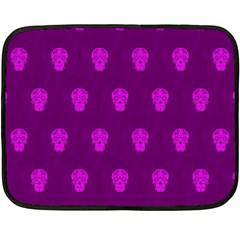 Skull Pattern Purple Fleece Blanket (Mini)