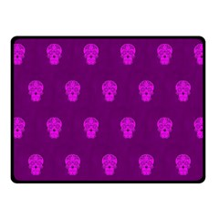 Skull Pattern Purple Fleece Blanket (Small)