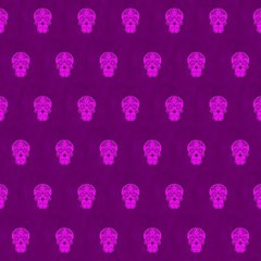 Skull Pattern Purple Magic Photo Cubes