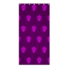 Skull Pattern Purple Shower Curtain 36  X 72  (stall)