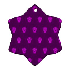 Skull Pattern Purple Ornament (Snowflake)