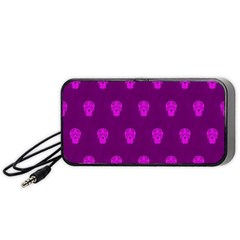 Skull Pattern Purple Portable Speaker (Black)