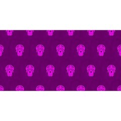 Skull Pattern Purple YOU ARE INVITED 3D Greeting Card (8x4)