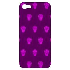 Skull Pattern Purple Apple iPhone 5 Hardshell Case