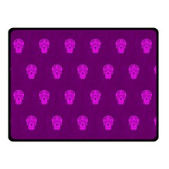 Skull Pattern Purple Double Sided Fleece Blanket (small)