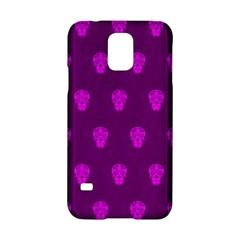 Skull Pattern Purple Samsung Galaxy S5 Hardshell Case