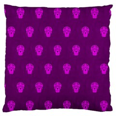Skull Pattern Purple Standard Flano Cushion Cases (two Sides)