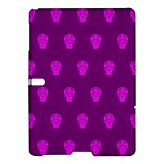 Skull Pattern Purple Samsung Galaxy Tab S (10.5 ) Hardshell Case