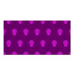 Skull Pattern Purple Satin Shawl