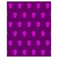 Skull Pattern Purple Drawstring Bag (Small)