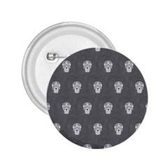 Skull Pattern Silver 2 25  Buttons