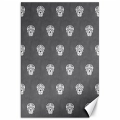 Skull Pattern Silver Canvas 20  x 30