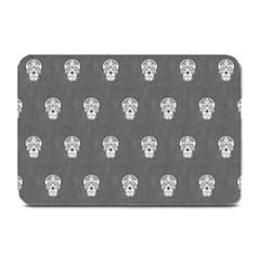 Skull Pattern Silver Plate Mats