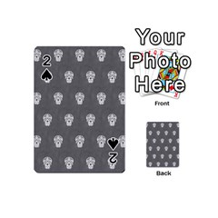 Skull Pattern Silver Playing Cards 54 (mini)