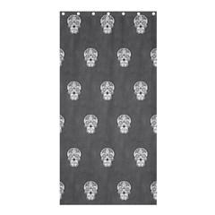 Skull Pattern Silver Shower Curtain 36  x 72  (Stall)