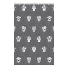 Skull Pattern Silver Shower Curtain 48  X 72  (small)