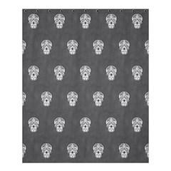 Skull Pattern Silver Shower Curtain 60  X 72  (medium)