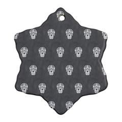 Skull Pattern Silver Ornament (Snowflake)