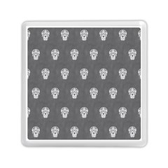 Skull Pattern Silver Memory Card Reader (square)