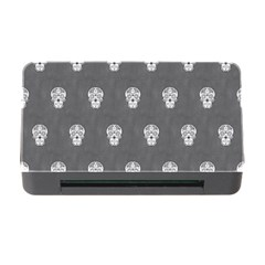 Skull Pattern Silver Memory Card Reader with CF