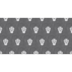 Skull Pattern Silver YOU ARE INVITED 3D Greeting Card (8x4)