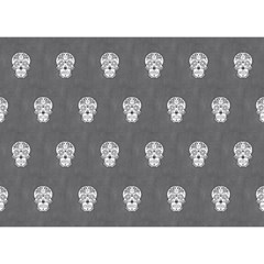 Skull Pattern Silver Birthday Cake 3D Greeting Card (7x5)