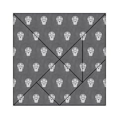 Skull Pattern Silver Acrylic Tangram Puzzle (6  X 6 )