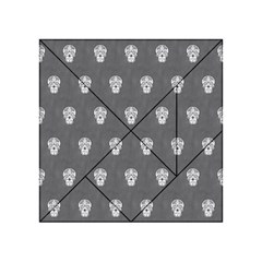 Skull Pattern Silver Acrylic Tangram Puzzle (4  x 4 )
